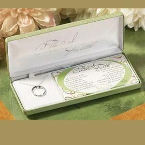 NWT Circle of Faith Silver Plated Chain Pendant
